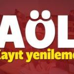 2018 AÖL (Açıköğretim Lisesi) 3.dönem kayıt yenileme tarihi!