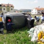 Denizli'de kamyonet devrildi: 4 yaralı