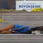 Taksim'de yürek burkan görüntü