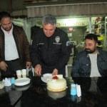 Tokat'ta polise sürpriz kutlama