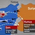 Suriye'ye kimyasal harekatın haritaları