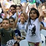 Bu etkinliğin protokolü de katılanı da çocuklar