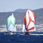 Yelken yarışlarında heyecanlı anlar yaşandı