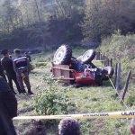 Zonguldak'ta traktör devrildi: 1 ölü