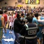 Basketbol maçında olaylar çıktı