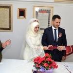 Merzifon Müftüsü ilk resmi nikahını kıydı