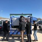 Patnos'ta köylere çöp konteyneri dağıtıldı