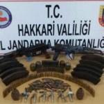 Yüksekova ve Çukurca'da PKK cephaneliği bulundu