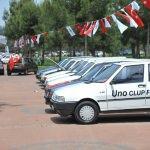 Klasik otomobiller Antalya'da buluştu
