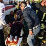 Kazada yaralananlara ilk müdahaleyi başhekim yaptı