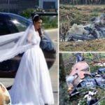 Gelini düğüne getiren helikopter alev alev yandı
