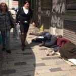 İstanbul'un göbeğinde ibretlik görüntüler