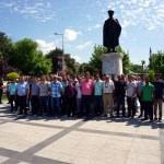 Edirne'de bazı belediye işçilerinden iş bırakma eylemi