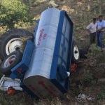 Manisa'da traktör uçuruma yuvarlandı: 1 ölü, 1 yaralı