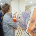 Filistinli sanatçı İmam Hatip Lisesinde sergi açtı