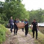 Çukurca'da polisten ramazan yardımı
