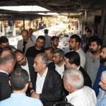 Bakan Fakıbaba'dan yangında zarar gören esnafa ziyaret