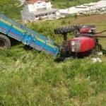 Zonguldak'ta traktör devrildi: 1 ölü, 2 yaralı