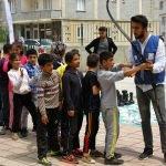 Mobil Gençlik Merkezi, çocuklarla buluştu