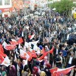 AK Parti adayları Doğubayazıt'ı ziyaret etti