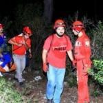 40 metre kayalıklardan düştü, 6 saatte kurtarıldı