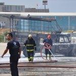 Sunta fabrikasında işçilerin kaldığı konteynerde patlama