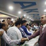 Bakanlar Çelik ve Sarıeroğlu partililerle bayramlaştı