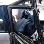 İş makinesi ile otomobil çarpıştı: 1 yaralı