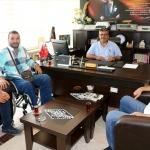 Gazilerden İlçe Milli Eğitim Müdürü Dilek'e ziyaret