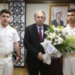 Vali Doğanay, Sahil Güvenlik personeleni kabul etti