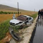 Burdur'da otomobil şarampole devrildi: 5 yaralı