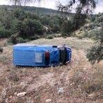 Mersin'de askeri araç devrildi: 1 yaralı