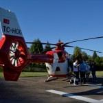 Bir günlük bebek, hava ambulansıyla İstanbul'a sevk edildi