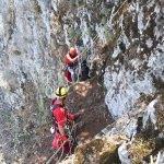 Muğla'da kayalıklarda mahsur kalan oğlak kurtarıldı