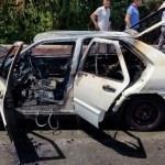 Batman'da seyir halindeki otomobil yandı