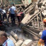 Mersin'de bina çöktü! Çok sayıda ekip bölgede