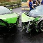 Milli futbolcu trafik kazası geçirdi!
