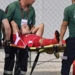 F.Bahçe'nin maçında sakatlık Hastaneye kaldırıldı!