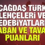 2018 Çağdaş Türk Lehçeleri ve Edebiyatları taban ve tavan puanları!