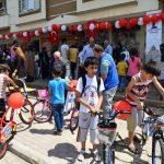 Yetim çocukların bisiklet hayali gerçek oldu