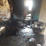 Banaz'da ev yangını