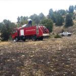Bozüyük'te arazi yangını