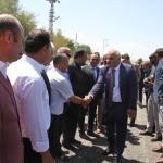 Van - Bitlis karayoluna sıcak asfalt dökülüyor