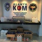 Antalya'da kaçak ve sahte içki operasyonu