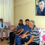 Belediye Başkanı Pamuk, şehit ailelerini ziyaret etti