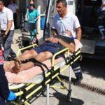 Antalya'da turistleri taşıyan safari cipi devrildi