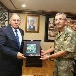 Tuğgeneral Kaymaz'dan Vali Doğanay'a veda ziyareti
