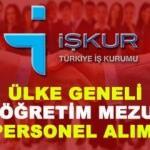 İŞKUR, Türkiye geneli binlerce ilköğretim mezunu personel alımı yapıyor!