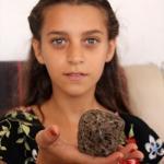 Mersin'de sahilde göktaşı bulunduğu iddiası