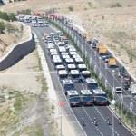 Elazığ'da belediyenin hizmet araçlarından konvoy